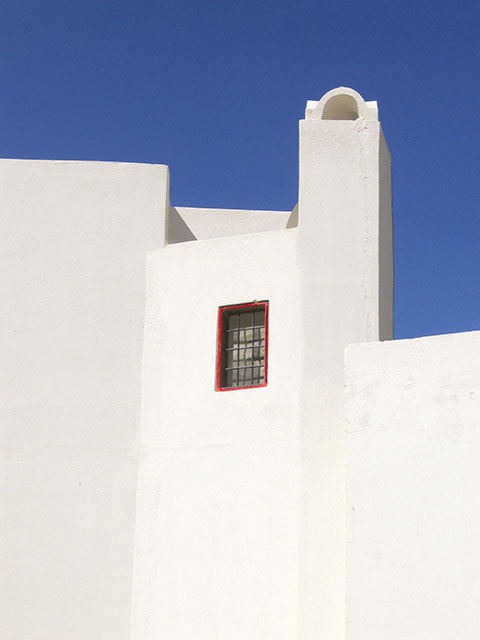 Red Window in Oia